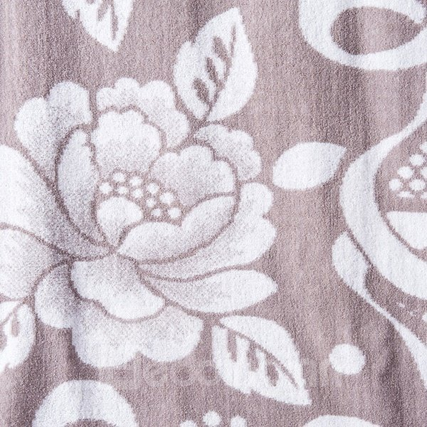 Noble Purple Peony Jacquard 100% Cotton Quilt