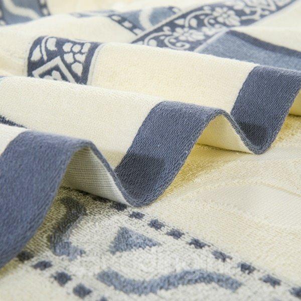Noble Livid and Beige Jacquard Cotton Quilt