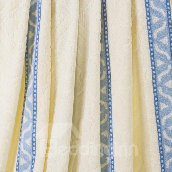 100% Cotton Pale blue and Beige Jacquard Quilt