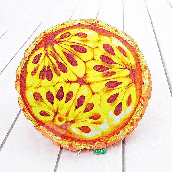 Vivid Kok Melon Shaped Pattern PP Cotton Throw Pillow