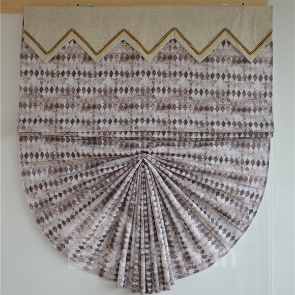 Designer Watercolor Geometric Print Roman Shades
