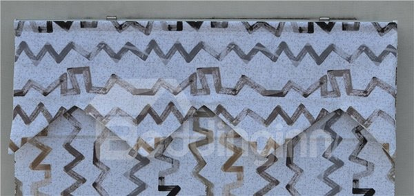 Modern Decor Abstract Chevron Roman Shades