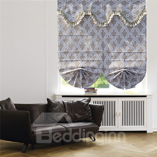 Modern Concise Stick Figures Graphic Prints Roman Shades
