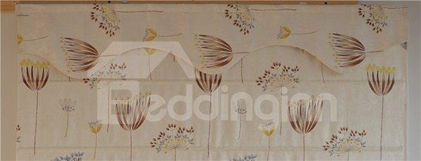 Cute Watercolor Dandelion Print Roman Shades