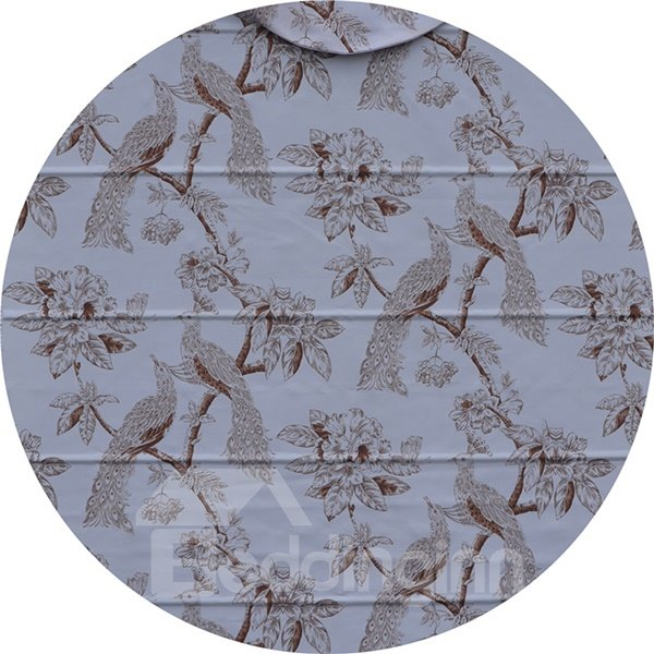 European Style Bird and Flower Print Roman Shades