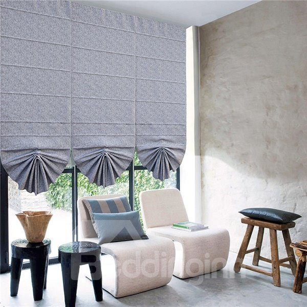 Pure Colored Cotton and Polyester Blending Roman Shades