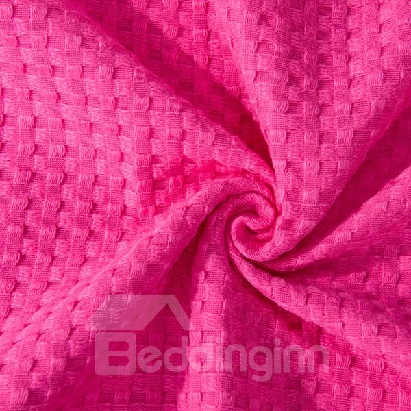 Ultra Soft Solid Red Jacquard Cotton Towel Quilt