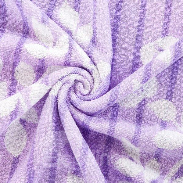 Noble Purple Leaves Jacquard Cotton Towel Quilt