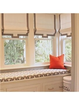 Designer Japanese Style Concise Flat-Shaped Blending Roman Shades