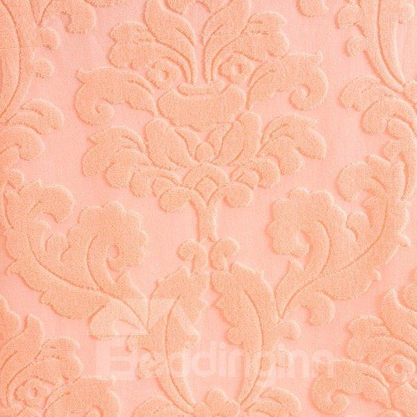 Modern Pale Apricot Jacquard Cotton Towel Quilt