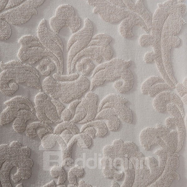 Minimalist Style Iced Coffee Color Cotton Jacquard Quilt