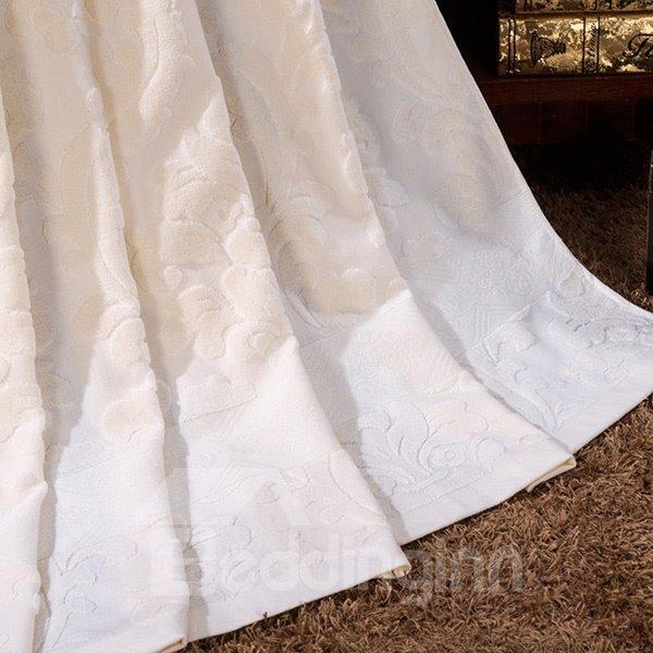 Urban Concise Light Beige Jacquard Cotton Towel Quilt