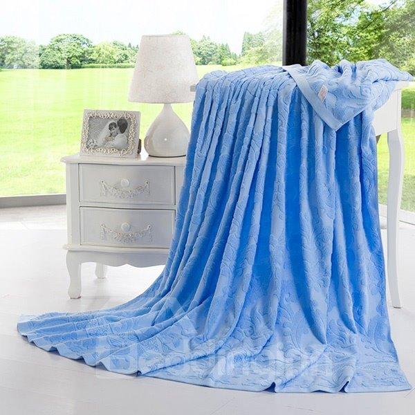 100% Cotton Durable Blue Jacquard Towel Quilt