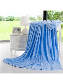 100% Cotton Durable Blue Jacquard Towel Quilt