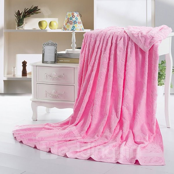Romantic Sweet Pink Cotton Jacquard Towel Quilt
