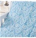 Attractive Damask Pattern Jacquard Light Blue Cotton Towel Quilt