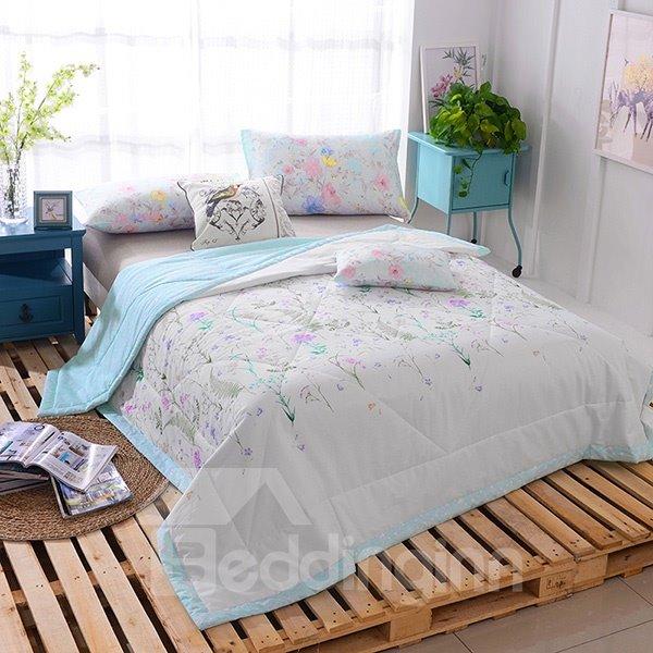 American Pastoral Style Exquisite Flower Cotton Quilt