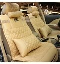 Stereoscopic Visual Impact With Square Block Design Leather Universal Car Seat Cover