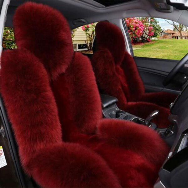 Luxurious And Durable Lambswool Material Super Cozy Universal Car Seat Cover