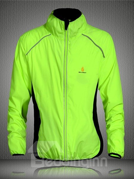 Male Windproof Outdoor Long Sleeve Road Bike Jersey UV Protection Cycling Jersey