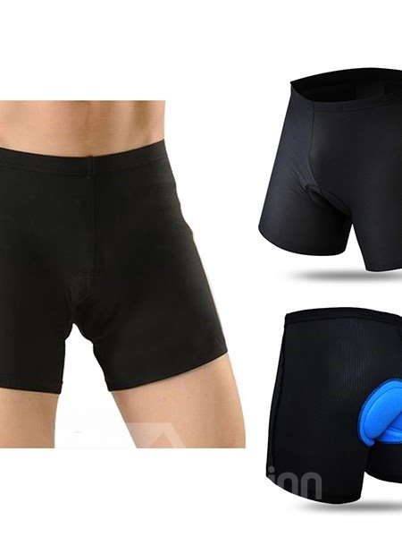 Black Elastic Road Bike Underwear Breathable and Quick-Dry Cycling Shorts