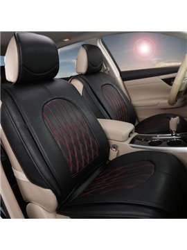 Classic PU Leather Material And Strong Simple Design Pattern Universal Car Seat Cover
