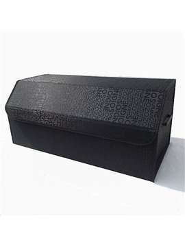 Classic Black With English Alphabet High Capacity Trunk Organizer