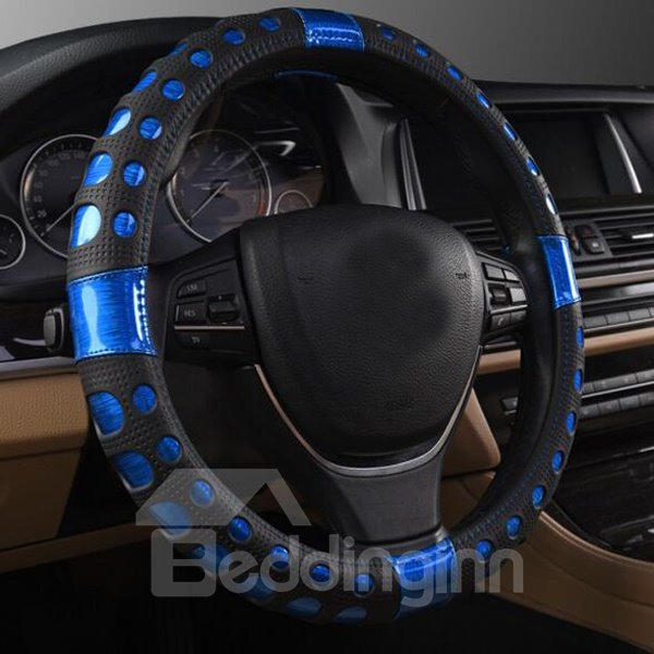 Popular Attractive Blue Pattern High Quality Steering Wheel Cover