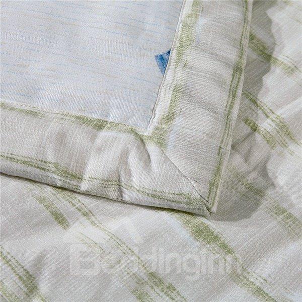 Chic Design Blue Floret Print White Air Conditioner Quilt