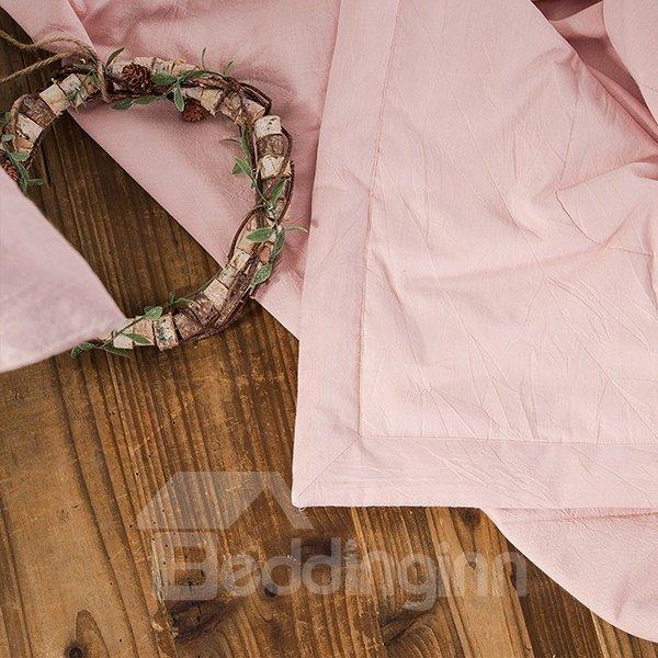 Graceful Cartoon Rabbit Print Pink Cotton Quilt