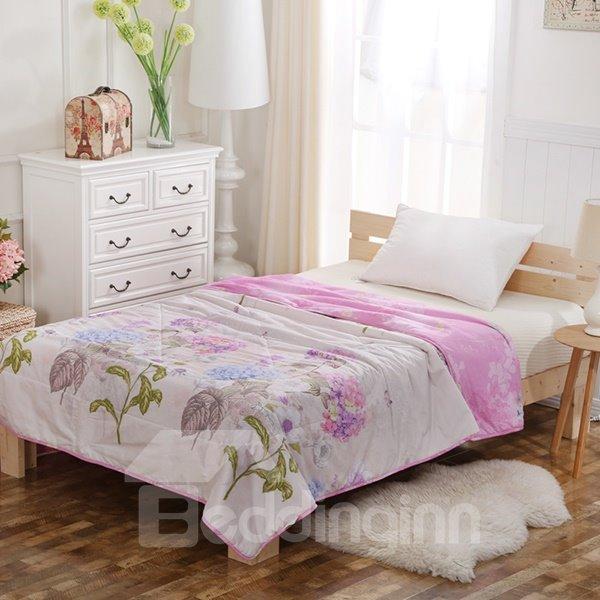 Lightweight Beautiful Purple Lilac Print Cotton Quilt