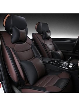 Classic Coffee Style Luxurious Leather Material Unversal Car Seat Cover