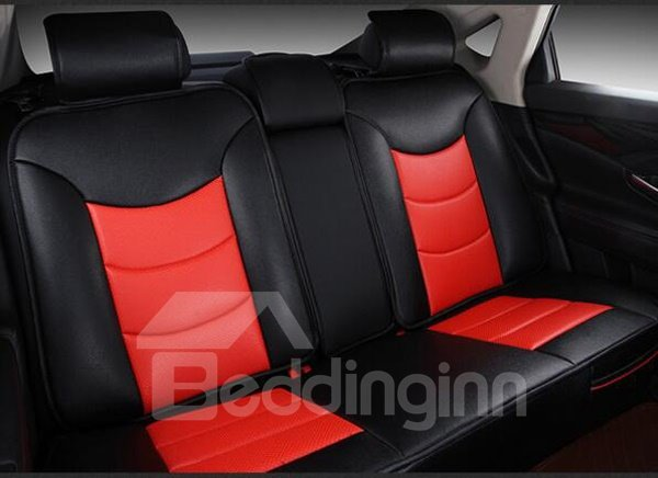 Very Popular Red Sport Style Leather Material Universal Car Seat Cover