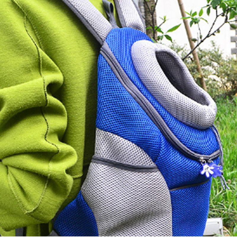 Mesh Material Portable Lightweight Easy to Clean Backpack Dog Carrier