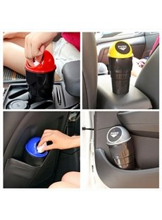 Modern Design Colorful Plasstic Car Trash Can