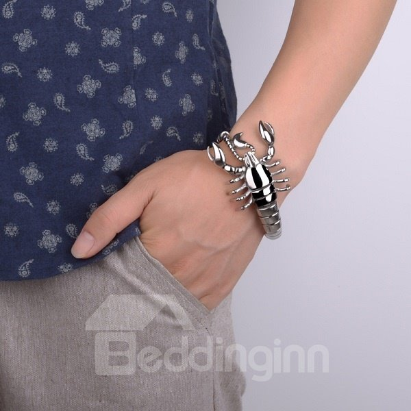Creative Fashion Silver Scorpion Shape Bracelet Birthday Gift