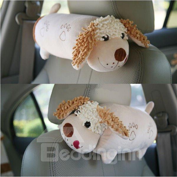 Elongated Cartoon Dog Style Creative One Pair Car Pillow