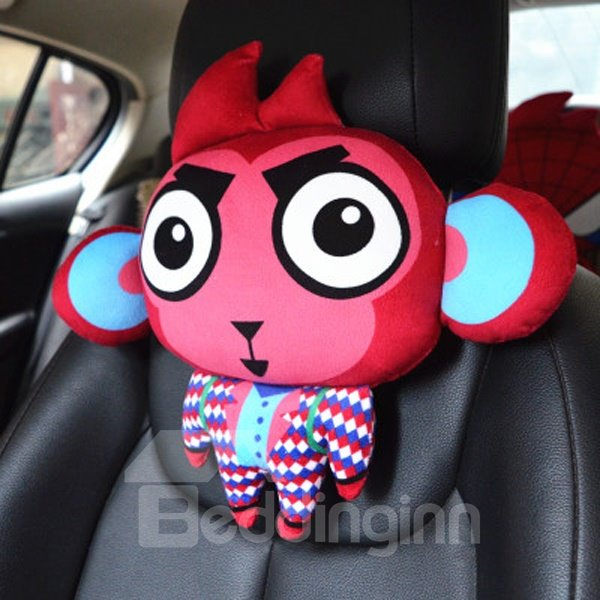 Funny Cartoon Monkey With Two Big Ears Creative Car Pillow