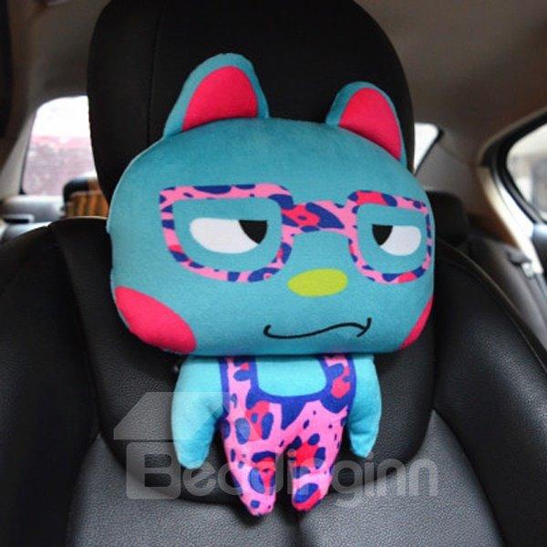Sharp Eyes With Glass Cute Cartoon Rabbit Creative Car Pillow
