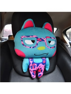 Sharp Eyes With Glass Cute Cartoon Rabbit Creative Car Pillow