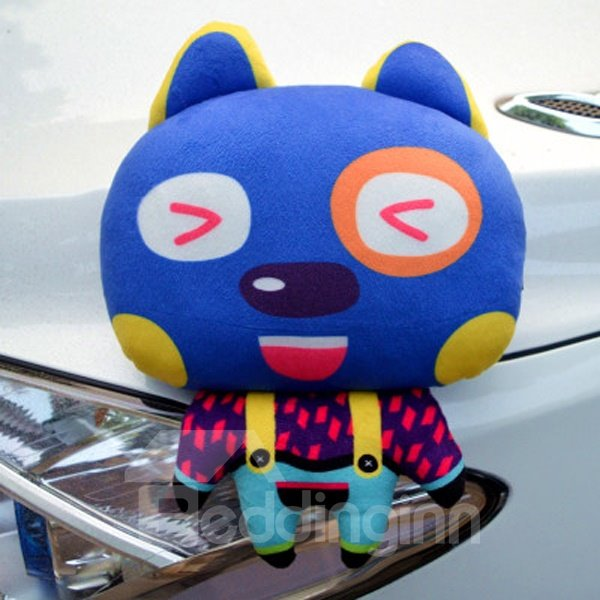 Cute Tangled Rabbit In Fashional Cloth Cartoon Creative Car Pillow