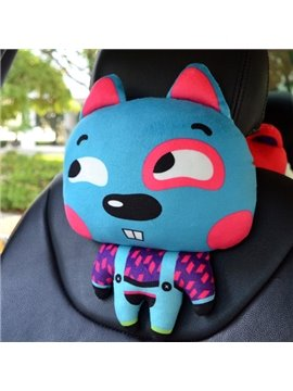 Cute Funny Bared Teeth Blue Rabbit Fashional Car Pillow