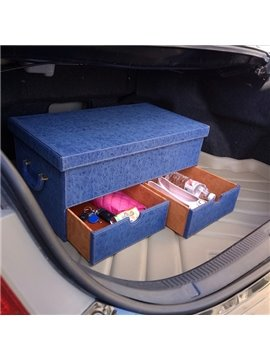Popular Design Multifunction Use With Three Drawer Leather Trunk Organizer