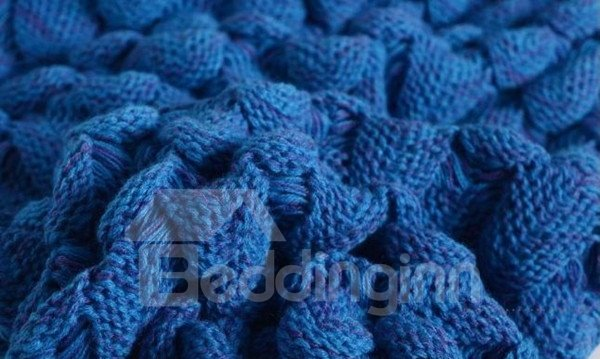 Super Soft Knitted Mermaid Tail Orlon Blanket