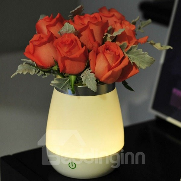 Miraculous Creative Plastic Flower Vase LED Night Light
