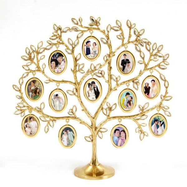 Golden Beautiful Tree Shape Decorative Table Photo Frame