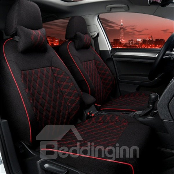 Classic Black And Red Mixing Most Popular Charming Dedicated Car Seat Cover