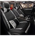 Classic Leopard Border Design And PU Leather Material Universal Car Seat Cover