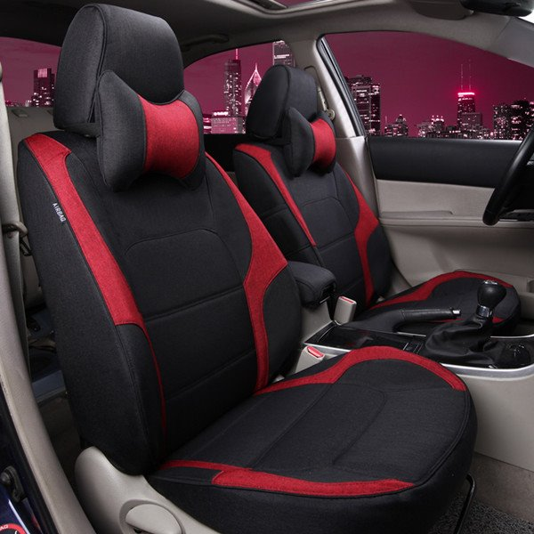 Cool Design Breathable Flax Car Seat Cover Pic