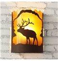 Vintage American Country Resin Deer Wall Light